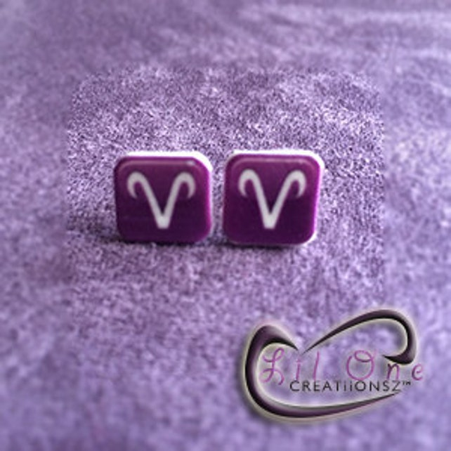 Fun Emoji Zodiac Earrings Aries Taurus Gemini Cancer Etsy