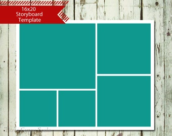 11x14 storyboard collagetemplate layered psd collage template etsy