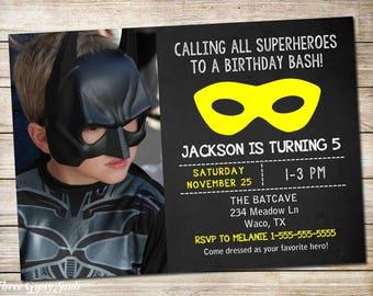 Superhero Invitation Superhero Birthday Invitation Superhero Party Invitation Superhero Birthday Party Invitation