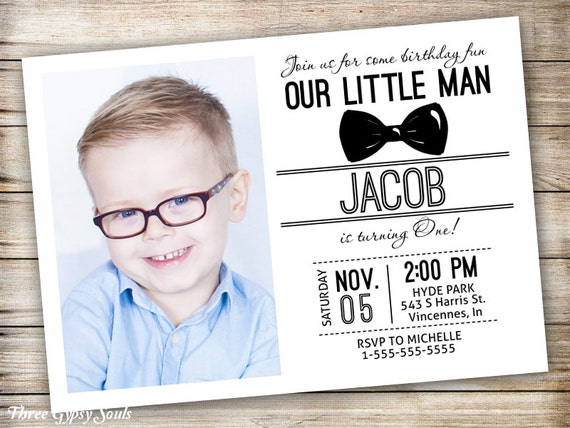 Little man 1st birthday invitation bowtie invitation little etsy image 0 filmwisefo