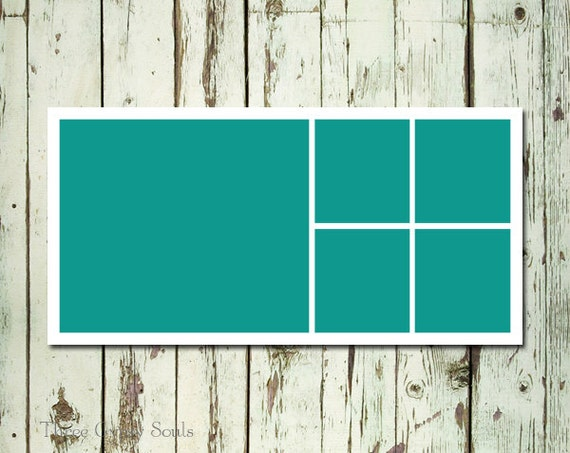 10x20 storyboard template photo collage template layered psd etsy