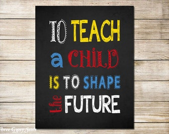PRINTABLE Classroom Decor Teacher Appreciation Gift Teacher Gift Ideas Classroom Wall Decor Classroom Wall Art