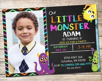 1st Birthday Invitation Monster Birthday Invitation Monster Invitation Monster Party First Birthday Invitation Monster Birthday Party