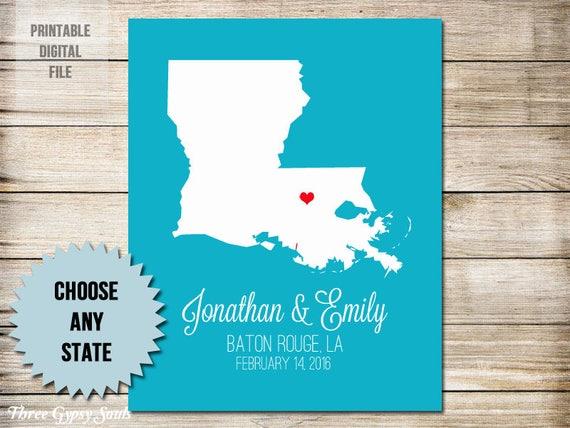 1 Jahrestagsgeschenk Für Mann Ersten Jahrestag Geschenk Für Ihn Papier Jubiläumsgeschenk Für Ihre Louisiana Hochzeitsgeschenk