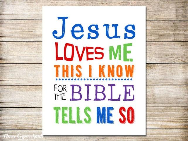 IMPRIMIBLES de arte de Jesús Me ama cristiano pared arte | Etsy