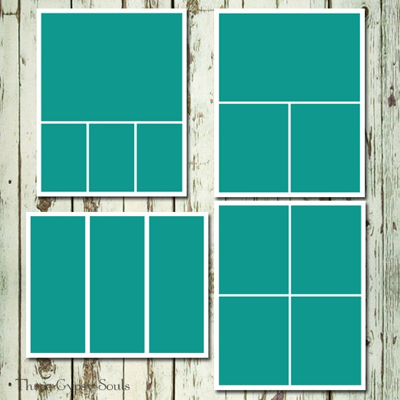 8x10 Storyboard Collage Templates Layered PSD Group Of 4 Etsy