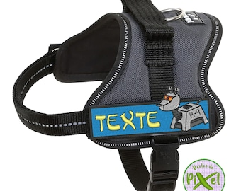 DW K-9 Computer Dog 4 Inch Wide Iron On Patch