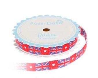 Woven ribbon -  Three metres - Union Jack Flag -