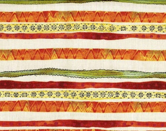 Cotton fabric with african wobbly stripes