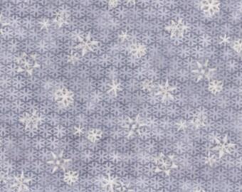 """Vente au metre -A PRIX DOUX /  Tissu coton fin de qualité """"Hiver"""" Flocons sur fond bleu"""