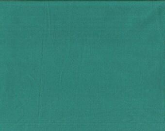 Tissu coton uni couleur vert Pacifique