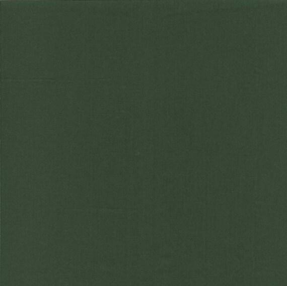 vendita calda genuina negozio di sconto vari stili Tessuto cotone colore Unito verde scuro, per patchwork o lavorazione.