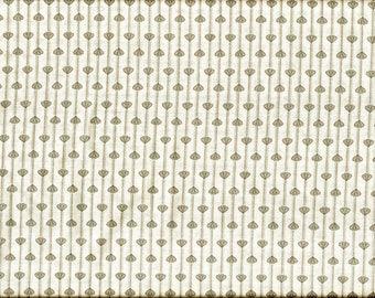 Tissu Patchwork Top qualité fond blanc cassé à petits motifs gris