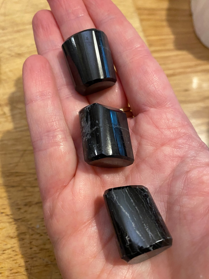 Black Tourmaline Schorl Large Tumblestone Protection Grounding  Stress Relieve
