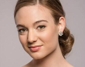 Silver Stud Earrings, Vintage Earrings, Bridal Earrings, Wedding Earrings