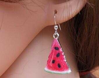 Melon earrings, fruit earrings, food jewellery, melon jewellery, summer jewellery, fun earrings, festival jewellery, food earrings