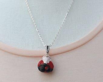 Santa pendant, Father Christmas pendant, handmade fimo necklace, jolly santa necklace, festive pendant, santa necklace, Christmas jewellery