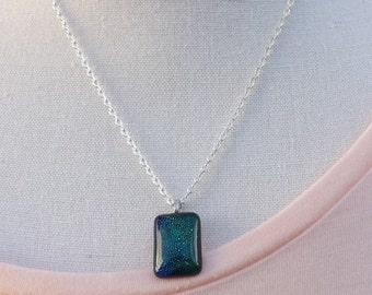 Dichroic glass pendant, small glass pendant, beautiful pendant, glass pendant, dichroic necklace,