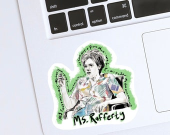SNL Kate McKinnon Ms. Rafferty Glossy Water Resistant Vinyl Sticker