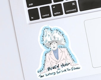 SNL Bowen Yang as The Iceberg That Sank the Titanic Glossy Water Resistant Vinyl Sticker