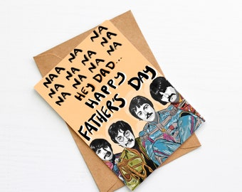 The Beatles Hey Jude Father's Day Card