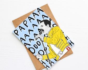 Freddie Mercury Father's Day Card