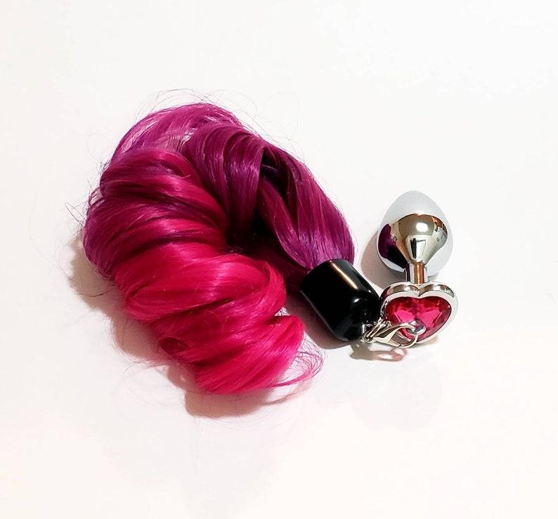 de35e1c06 VEGAN Tail Butt Plugs Ombre LIGHT DARK Pink Pony Tail Butt