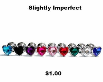 Butt Plug 1.00 SALE SMALL (Beginner)Heart Shaped Jewel Butt Plug One Per Customer!  Perfectly IMPERFECT Limited Quantities! bdsm, anal Play