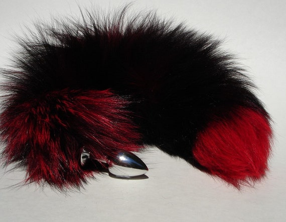 Tail Butt Plug Dildo Sex Toys 17 Black And Red Fox Tail  Etsy-5504
