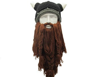 cfa27627957 Crochet Viking Beard Hat