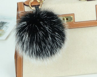 26216d84590a Real Raccoon Fur Bag Charm