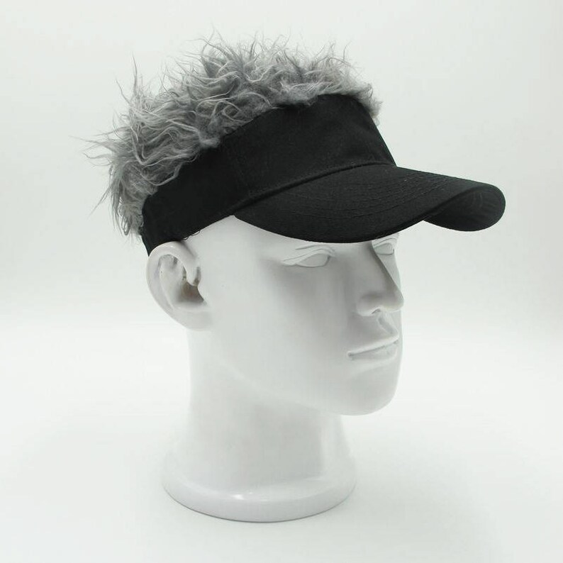 994fdeced2e New Creative Mens Baseball Cap Fake Hair Wig Sun Cap for Men