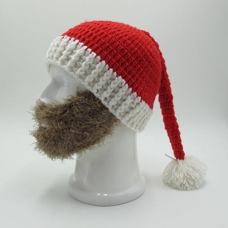 b66e15d6d54 Crochet Santa Claus Beard Hat for Men and Women Handmade