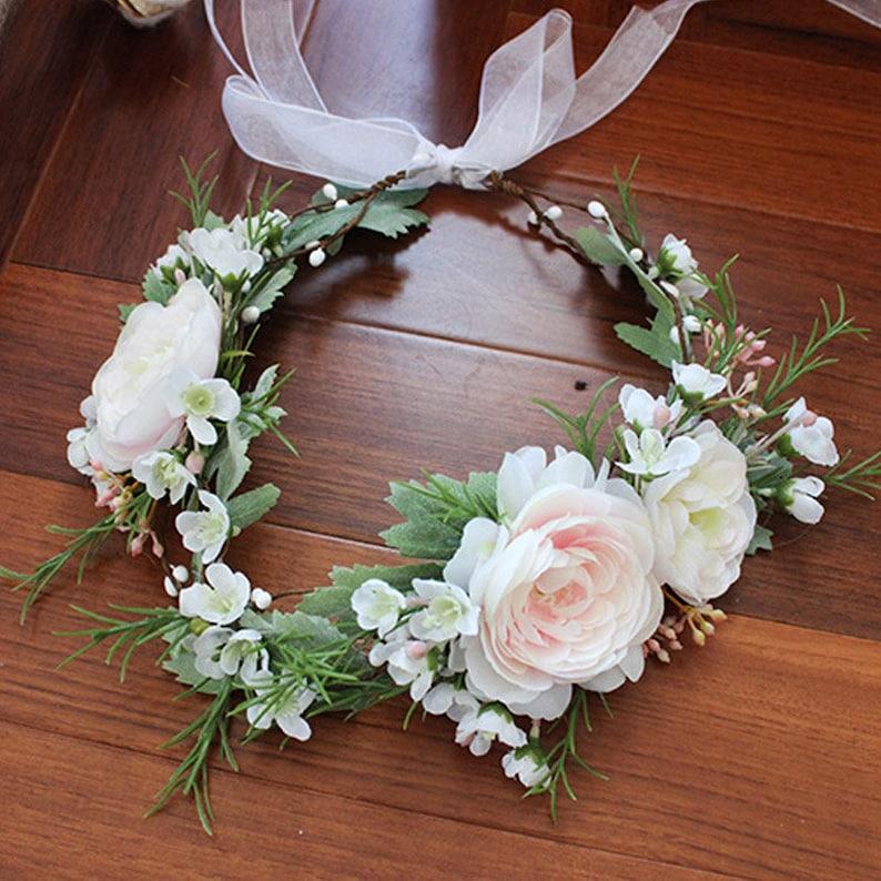 New Fancy Wedding Flower Crown Women Girls Woodland Hair  648fc219a5