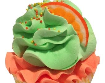 Citrus Sherbet Cupcake Bath Bomb