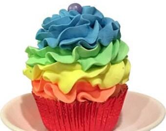 Rainbow Cupcake Bath Bomb