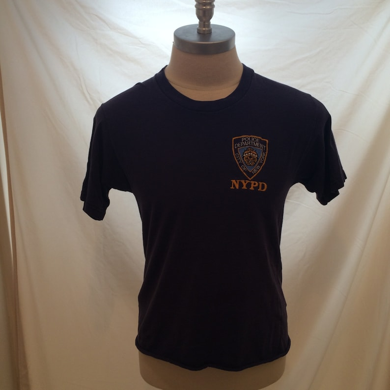 d7c1b9273 90s embroidered NYPD vintage tshirt tag missing soft Made | Etsy