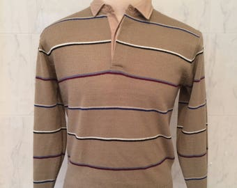 70s Mister Man Full Fashion Knit sweater, 100% 2-ply acrylic, Size L, Made in Korea