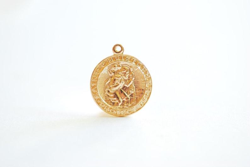 ba8650d59 14k Gold Filled St Christopher Pendant Wholesale Gold Filled | Etsy