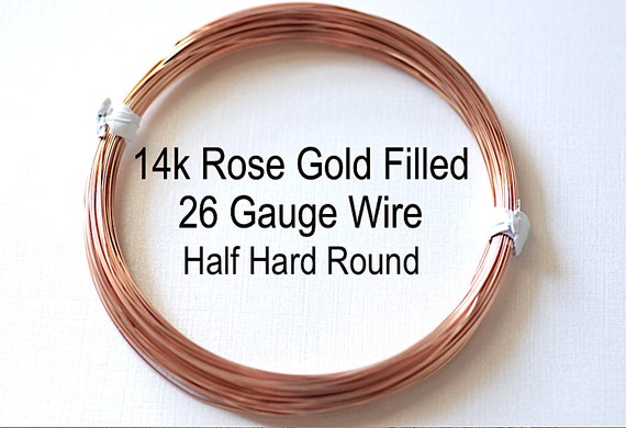 26 Gauge Wire >> Pay By Foot 26 Gauge 14k Rose Gold Filled Wire Half Hard Round Wire Wholesale Bulk Diy Jewelry Findings 1 20 14kt Rgf
