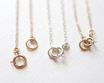 Gold Filled Finished Chain, Finished Necklace Chain, Gold Flat Chain, 1.3mm width Chain, Rose Gold Finished Chain, Sterling Silver Necklace