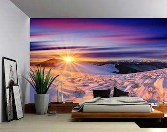 Self-adhesive Vinyl Wallpaper Large Wall Mural Peel /& Stick fabric wall decal Yacht Sailing at Sunset