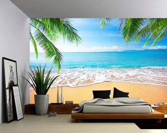 Greece sea ocean wall sticker art Decal paper Mural ocean view beach Vinyl N191