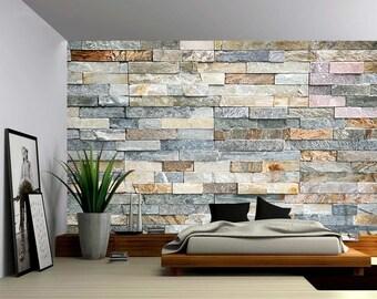Granite wall mural | Etsy