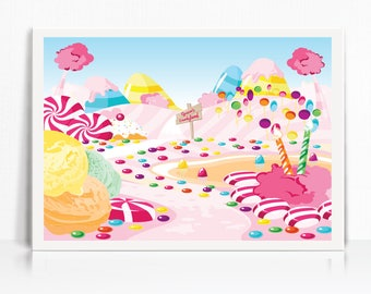 image regarding Candyland Letters Printable identify Candyland decorations Etsy