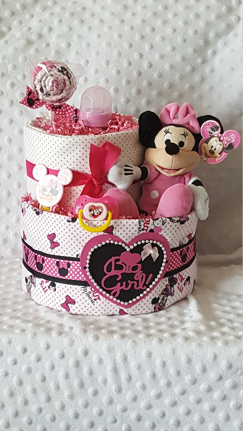 Mini Mouse Diaper Cake Minnie Mouse Baby Shower Minnie Etsy