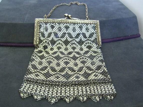Vintage 1920's Mandalian Enamel Mesh Evening Bag … - image 1