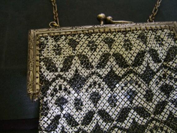 Vintage 1920's Mandalian Enamel Mesh Evening Bag … - image 2