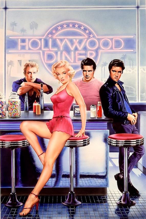Marilyn Monroe James Dean Marlon Brando Elvis Presley Etsy