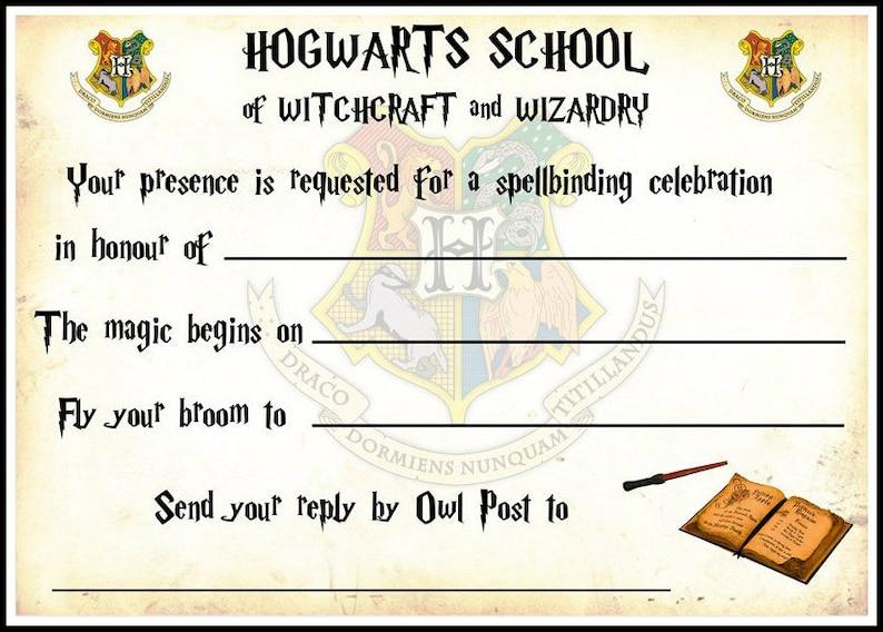Harry Potter Hogwarts Party Invitations X 10 C W Envelopes